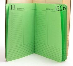 DAY PER PAGE Monthly Planner for Traveler's Notebooks  - Choice of 23 Colors and 4 Sizes