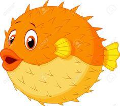 Photo About Illustration Of Cute Puffer Fish Cartoon Illustration Of Cute Avatar Comic