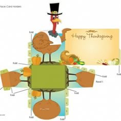 Turkey Place Cards for Thanksgiving
