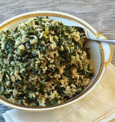 Dirty Rice with Collards and Leeks is a vegan and gluten-free rendition of traditional New Orleans dirty rice.