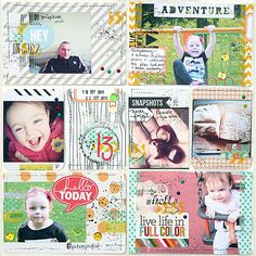 Project Life ::: Magda Bolinska - love the mixed media feel of her project life layouts