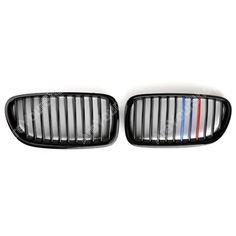 57.99$  Watch more here - http://airnb.worlditems.win/all/product.php?id=32720806589 - For BMW F10 F11 F18 5 Series 2010-2014 Front Grille Kidney Grill ABS Plastic Gloss Black+Multicolor Mesh Car Racing Accessory