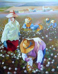 Damião Martins Cubist Paintings, Pin Pics, Palette Knife Painting, Arte Popular, Classical Art, Painting Techniques, Folk Art, Beautiful Flowers, Modern Art