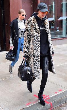 Is Bella Hadid Borrowing From Gigi's Closet?