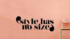style has no size -