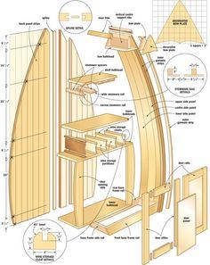 Boat shaped bar boat shelves etc Brick Oven Outdoor, Brick Bbq, Boat Furniture, Rustic Furniture, Boat Building Plans, Boat Plans, Woodworking Plans, Woodworking Projects, Youtube Woodworking