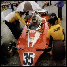 Carlos Reutemann  Debut en Ferrari Gran premio de Italia 1976 Monza  Colección Alejandro de Brito Gracias a Diego Stettler por la foto