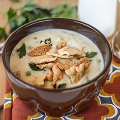 Chicken Pot Pie Soup, a secret ingredient makes it come together in a snap.