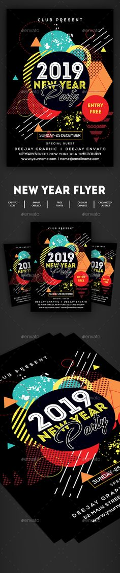 #New Year #Flyer - Clubs & Parties Events