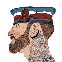tattooed sailor illustration