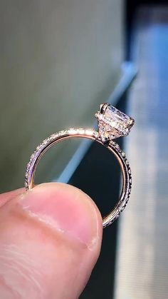 492 ROSE GOLD simulated diamond ring comfort clear RING 3ROW cocktail steel band