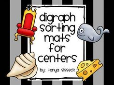 This product is a set of sorting mats and digraph picture cards. This product is great practice for digraph beginning sound identification designed for elementary students.  There are 4 beginning digraphs in this unit and 1 beginning/middle sound combo: ch, sh, th, wh, and ph.  There are five colored picture sorting cards for each digraph.  Simply cut out and all the cards and allow students to sort them on the mats! Great for literacy centers!