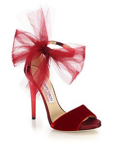 Jimmy Choo Lilyth Mixed-Media Bow Sandals and other apparel, accessories and trends. Browse and shop related looks. Ankle Wrap Sandals, Bow Sandals, Ankle Strap Shoes, Strap Heels, Women Sandals, Heeled Sandals, Stilettos, High Heels, Stiletto Heels
