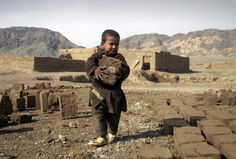 """UNICEF - """"The child has the right to be protected from work that endangers their health, their education or development"""" *   An Afghan child carries a brick at a factory on the outskirts of the city in Herat, west of Kabul, Feb. 11, 2012. Thousands of Afghan children work to make money to support their families. (Hoshang Hashimi/Associated Press)  #"""