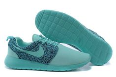factory authentic b0e58 bfed1 UK Running Nike - Roshe Run Floral Mens Blue Green