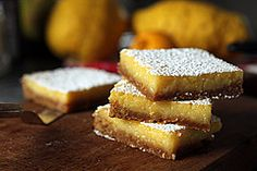 I'm making these tangy lemons bars this week - great use for winter citrus!