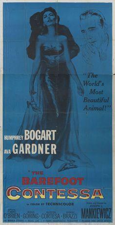 US three sheet for The Barefoot Contessa (Joseph L. Mankiewicz, USA, 1954).