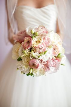 Gorgeous blush and cream bridal bouquet.
