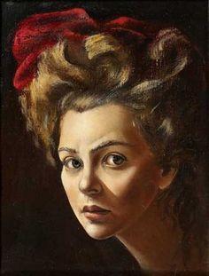 surrealist artist Leonor Fini - self-portrait