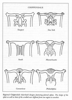Chippendale chair back designs.