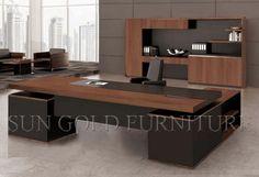 Foto de Mesa moderna nova do gerente da mobília de escritório da noz (SZ-OD331) em pt.Made-in-China.com