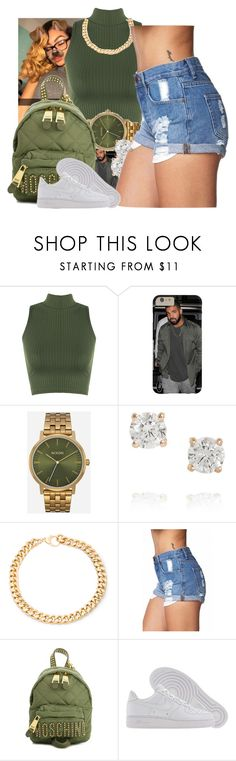 """""""."""" by eirinimaria ❤ liked on Polyvore featuring WearAll, Nixon, Anita Ko, Alessandra Rich, Forever 21, Moschino and NIKE"""