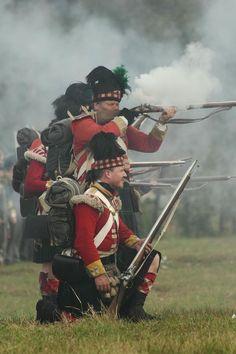 Highland infantry reenactors
