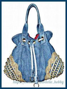 Billedresultat for recycle jeans Denim Tote Bags, Denim Handbags, Denim Purse, Blue Handbags, Amo Jeans, Jeans Denim, Jeans Recycling, Denim Ideas, Boho Bags