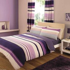 Contemporary Stripes Duvet Covers, Quilt Covers and Bedding Set. · Single - One duvet cover x 200 cm) and one pillow case x 75 cm). · Double - One duvet cover x 200 cm) and two pillow cases x 75 cm). Luxury Duvet Covers, Luxury Bedding, Duvet Sets, Duvet Cover Sets, Purple Bedding Sets, Turquoise Bedding, Fitted Bed Sheets, Linen Sheets, Striped Bedding