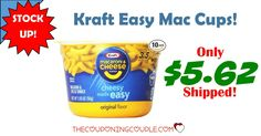 STOCK UP! Get a 10 count of Kraft Easy Mac Cups for only $5.62 shipped! Perfect for the quick lunches and snacks!!  Click the link below to get all of the details ► http://www.thecouponingcouple.com/kraft-easy-mac-cups-only-6-86-shipped-for-10-count/ #Coupons #Couponing #CouponCommunity  Visit us at http://www.thecouponingcouple.com for more great posts!