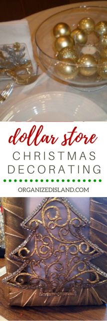 What to decorate with cheap dollar store items? check out these ideas. Christmas Decor Diy Cheap, Easy Halloween Decorations, Diy Christmas Gifts, Christmas Decorations, Christmas Stuff, Christmas Ideas, 10 Dollar Store, Dollar Store Christmas, Dollar Store Crafts