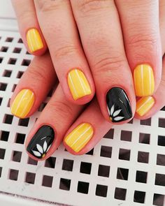Best Nails Ideas for Spring 2019 If you are searching for cute nail colors for spring and beautiful spring nail designs then check our Stylish nails especially Floral nails and butterfly nails. Cute Nail Colors, Spring Nail Colors, Spring Nail Art, Nail Designs Spring, Spring Nails, Nail Art Designs, Yellow Nails Design, Yellow Nail Art, Yellow Nail Polish