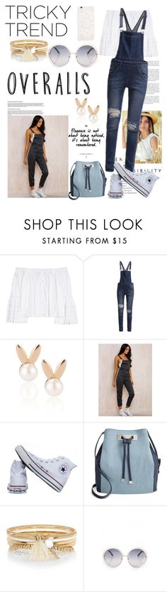 """Senza titolo #4748"" by waikiki24 ❤ liked on Polyvore featuring Carolina Herrera, Cheap Monday, Aamaya by priyanka, Converse, INC International Concepts, River Island, TrickyTrend and overalls"