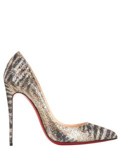 CHRISTIAN LOUBOUTIN - 120MM PIGALLE FOLLIES GLITTERED PUMPS - LUISAVIAROMA