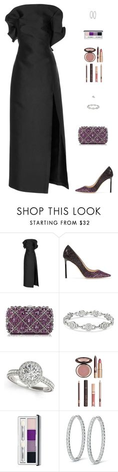 """Untitled #5059"" by mdmsb on Polyvore featuring Marisa Witkin, Jimmy Choo, Rodo, Charlotte Tilbury and Clinique"