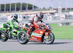 Troy Bayliss Ducati 996R and Akira Yanagawa Kawasaki ZX-7R 2001 world superbikes
