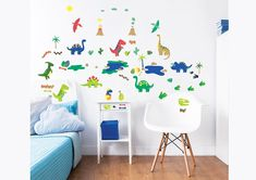 Dinosaur 3 Piece Wall Sticker Set