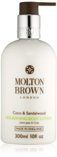 Molton Brown Nourishing Body Lotion, Coco & Sandalwood, 10 fl. oz. time treat, this body lotion is intensively moisturizing with a lovely scent. Body lotion. 300ML. New improved formulation. Made in England.