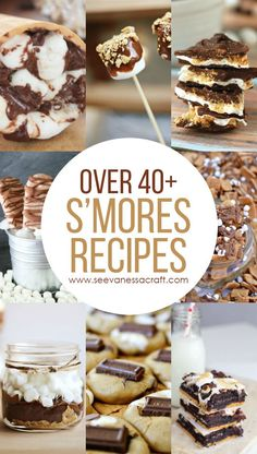 Over 40+ Chocolate & Marshmallow Smores Recipes for Summer #smoresrecipes #smores #summerrecipe #campingrecipes #marshmallows