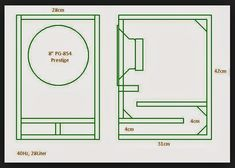 Resultado de imagen para subwoofer box design for 12 inch Diy Subwoofer, 8 Inch Subwoofer Box, Subwoofer Box Design, Speaker Box Diy, Speaker Plans, Speaker Box Design, Diy Speakers, Monitor Speakers, Sub Box Design