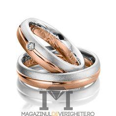 Verighete aur culori combinate de 3mm MDV5057 #verighete #verighete3mm #verigheteaur #verigheteauraplicatie #magazinuldeverighete Gold Wedding Rings, Gold Rings, Rustic Wedding, Rose Gold, Engagement Rings, Jewelry, Model, Ideas, Wedding Band Ring