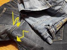 zerschlissene Jeans unsichtbar reparieren - YouTube