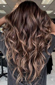 Brown Hair Balayage, Brown Blonde Hair, Light Brown Hair, Hair Color Balayage, Hair Highlights, Ombre Hair, Balayage Hair Brunette Long, Baliage Hair, Dark Balayage