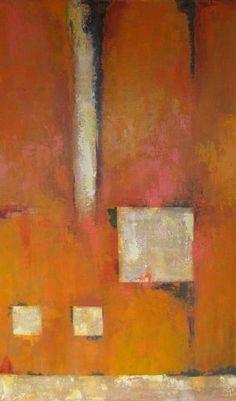 Acrylic painting by Ana Maria Botero. (original art, orange, tangerine)