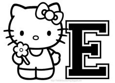 hello kitty coloring personalized coloring page initial letter hello kitty - Colouring Pages Of Hello Kitty