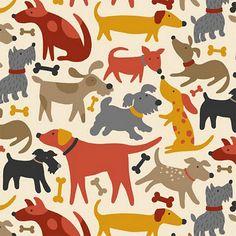 Happy Dog Christmas - Dog And Puppies Pomeranian - - Dog Paw Tattoo - Dog Tattoo Outline - Baby Dog Wallpaper Dog Wallpaper, Pattern Wallpaper, Cartoon Dog, Cute Cartoon, Textures Patterns, Print Patterns, Wow Art, Dog Pattern, Pattern Illustration