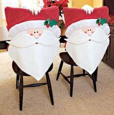 .......Tudo Bem Feitinho.......: Capa de Cadeira de Natal