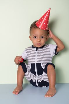 Baby & Toddler Boy stripe Zip Romper