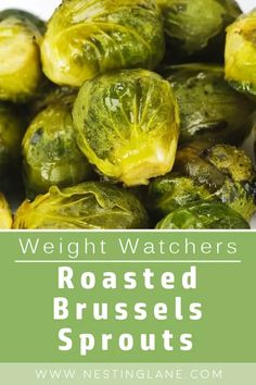 Weight Watchers Roasted Brussels Sprouts Recipe. A healthy, 4 ingredient side dish recipe. 15 minute prep time. Gluten Free. MyWW Points: 4 Green Plan, 4 Smart Points Weight Watchers Sides, Weight Watchers Meals, Side Dish Recipes, New Recipes, Healthy Recipes, Healthy Meals, Weight Watchers Vegetarian, Cooking Sheet, Sprout Recipes