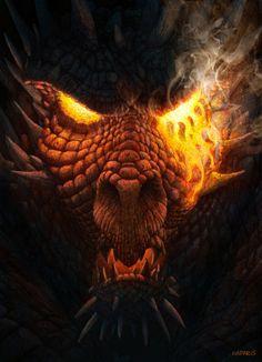 fantasy dragon art   Antonio Javier Caparo   Elder Dragon Picture (2d, fantasy…